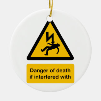 Danger of Death Double-Sided Ceramic Round Christmas Ornament