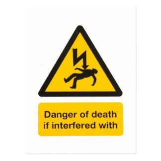 Danger of death postcard