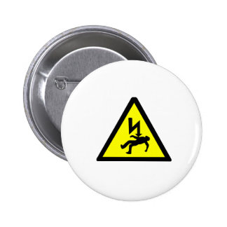 Danger of Electric Shock Symbol Pinback Buttons