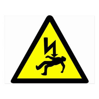 Danger of Electric Shock Symbol Postcard