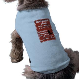 Danger Off Limits Sign, Afghanistan Doggie T-shirt