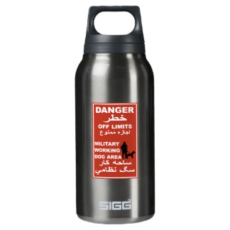 Danger Off Limits Sign, Afghanistan Insulated Water Bottle