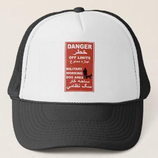 Danger Off Limits Sign, Afghanistan Trucker Hat