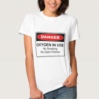 Danger Oxygen In Use T-shirt
