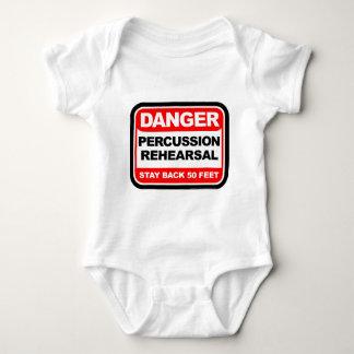 Danger Percussion Rehearsal Baby Bodysuit