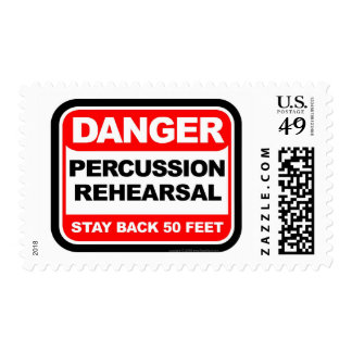 Danger Percussion Rehearsal Postage