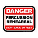 Danger Percussion Rehearsal Postcard