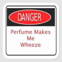 Danger Perfume Makes Me Wheeze Sticker
