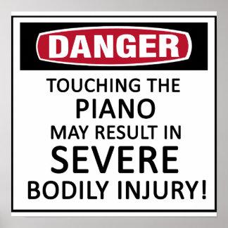 Danger Piano Poster