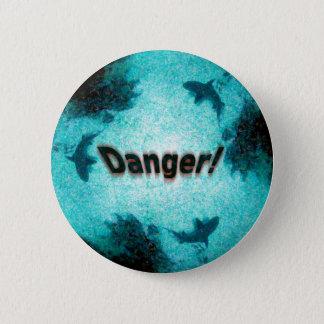 Danger! Pinback Button