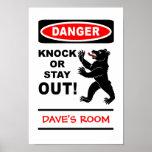Danger poster - customize!