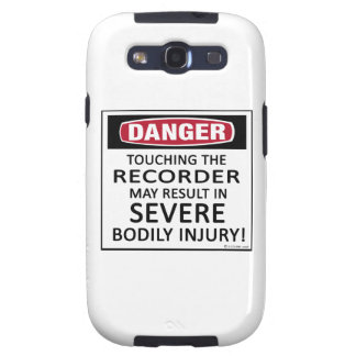 Danger Recorder Samsung Galaxy SIII Covers