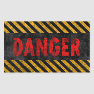 Danger Rectangular Sticker