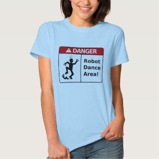 DANGER Robot Dance Area! (Women's T-Shirt) T Shirts