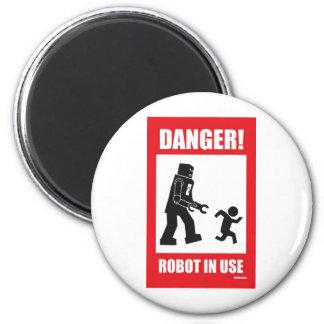 Danger! Robot in Use Magnet