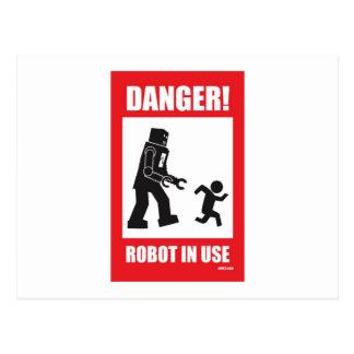 Danger Robot in Use Postcard