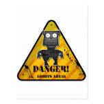 Danger! Robots Ahead Post Cards