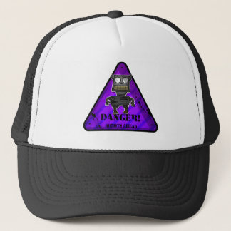 Danger! Robots Purple Trucker Hat