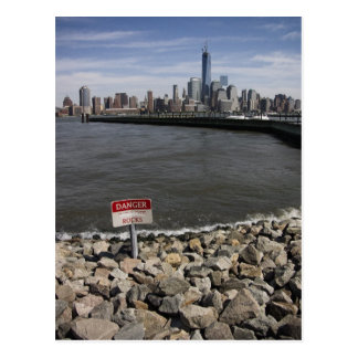 Danger Rocks New York skyline Postcard