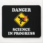 Danger Science in Progress Fart Humor Mousepad
