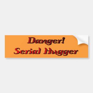 Danger Serial Hugger Bumper Sticker