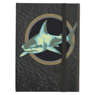 danger sharks, caution iPad folio cases