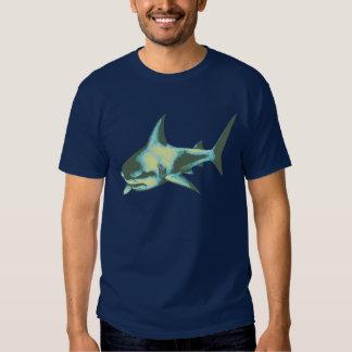 danger, sharks, caution tee shirt