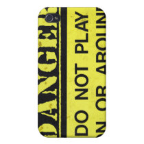 danger sign 4 casing case for iPhone 4