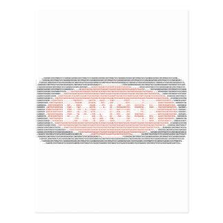 Danger sign ASCII art Postcard