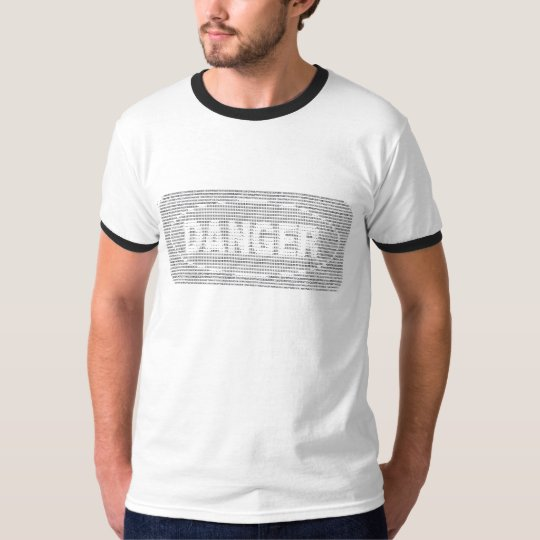 Danger sign ASCII art T-Shirt