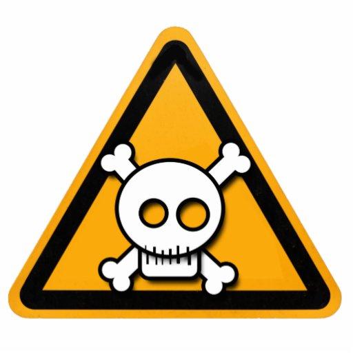 Danger Sign Cartoon Skull Pinn Photo Cutouts Zazzle
