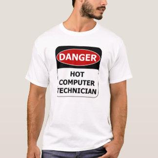 Danger Sign - Hot Computer Technician T-Shirt