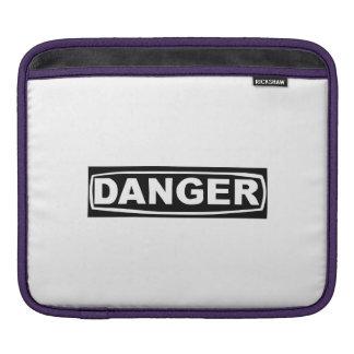 Danger Sign iPad Sleeve