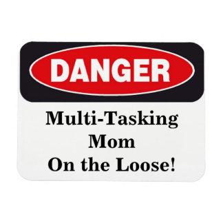 Danger Sign Mom Magnet
