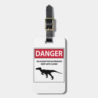 Danger Sign (Raptors) Bag Tag
