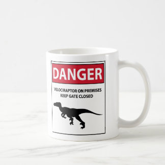 Danger Sign (Raptors) Classic White Coffee Mug