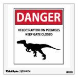 Danger Sign (Raptors) Room Graphic