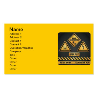 Danger Signs (7) garcya Double-Sided Standard Business Cards (Pack Of 100)