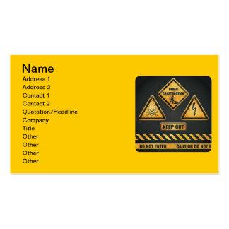 Danger Signs (7) garcya Business Card Templates