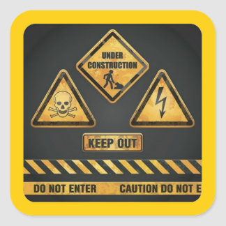 Danger Signs (7) garcya Square Sticker