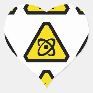 Danger signs heart sticker