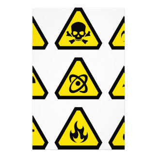 Danger signs stationery
