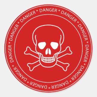 Danger - Skull Sign Sticker