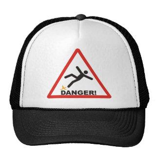 Danger Slippery Mesh Hat