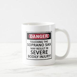 Danger Soprano Sax Coffee Mugs