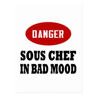 Danger Sous Chef Post Cards
