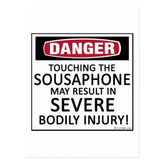 Danger Sousaphone Postcard
