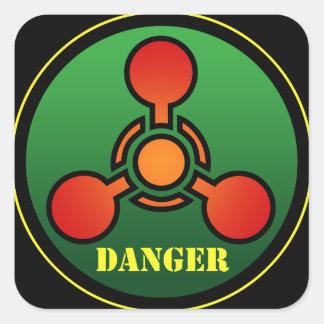 Danger Square Sticker