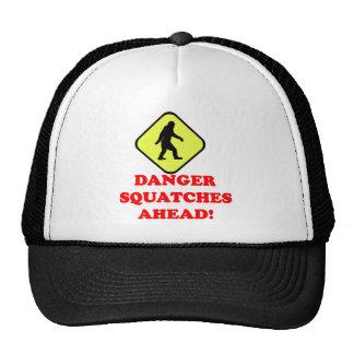 Danger squatches ahead trucker hat