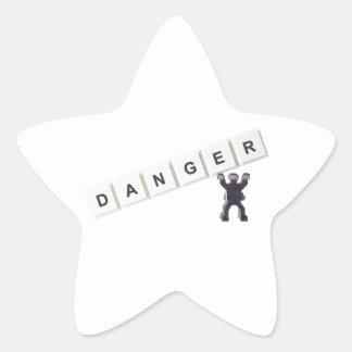 Danger Star Sticker